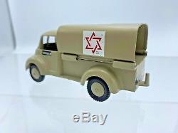 Vintage Gamda Idf Ambulance Matricés Toy Israel 1955 Excellent Rare