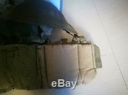 Vintage Idf De L'armée Israélienne Combat Tactique Gilet + Cantines Grande Taille