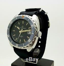 Vintage S. Steel Eterna-matic De Super Kontiki Idf Militaire Diver Watch