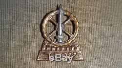 Vtg 40 'très Rare Insigne De Chapeau Israélien Hagana Idf Zahal Army Hébreu