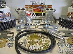 Weber Carburetor Kit Vw Bug & Type 1 Dual 40 Idf Accordé Pour Vw Refroidi Par Air