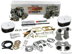 Weber Kit Carburateur Vw Bus, Type 2, Type 4, Porsche 914 Dual 40idf Kit Weber
