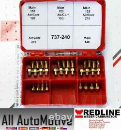 Weber Redline 40 Dcoe 45 Dcoe 44idf Double Carburetor Carb Jetting Jet Pack Kit