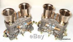 Weber Véritable 48 Idf 7 Paire Carburateurs Bonne Affaire! Vw Air Refroidi-fordv8